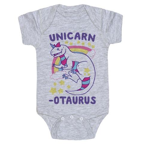 Unicarnotaurus - Unicorn Carnotaurus Baby Onesy
