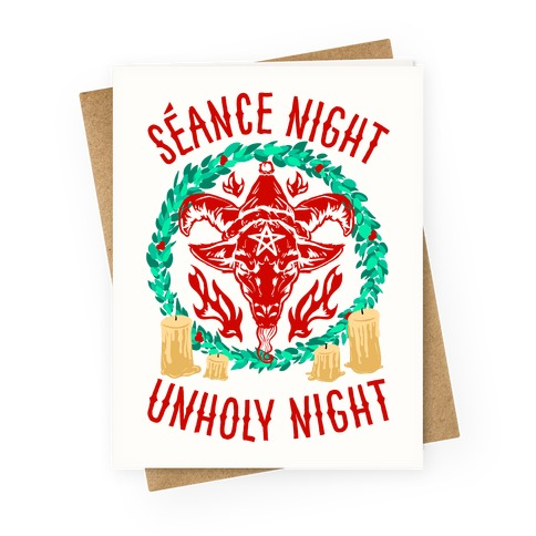 Seance Night, Unholy Night Greeting Card