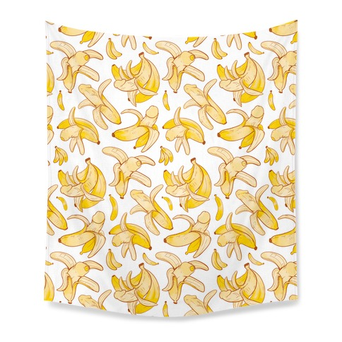 Banana penis pattern Tapestry