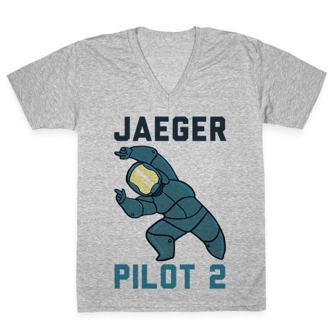 Jaeger Pilot 2 (1 of 2 set) V-Neck Tee Shirt