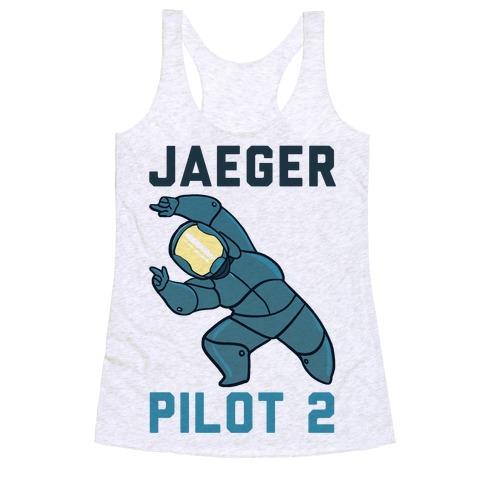 Jaeger Pilot 2 (1 of 2 set) Racerback Tank Top