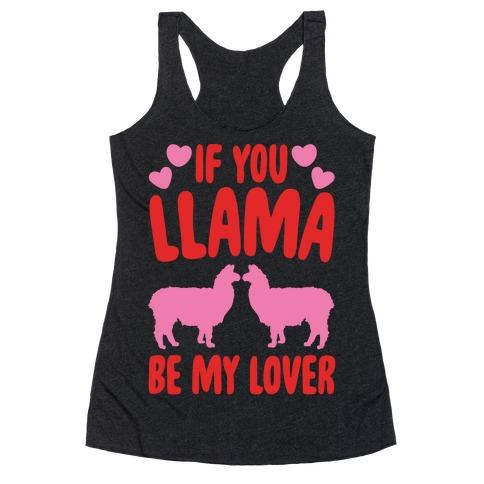 If You Llama Be My Love White Print Racerback Tank Top