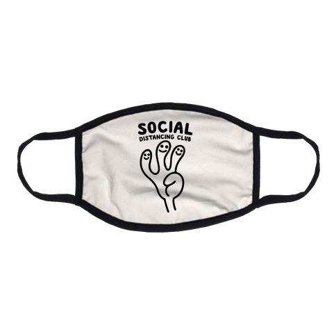 Social Distancing Club Flat Face Mask