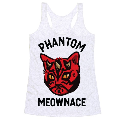 The Phantom Meownace Racerback Tank Top