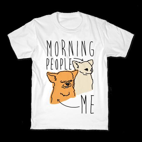 Morning People Vs. Me  Kids T-Shirt