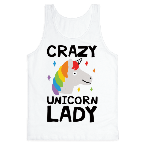 Crazy Unicorn Lady Tank Top