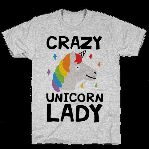 Crazy Unicorn Lady Mens T-Shirt