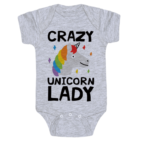 Crazy Unicorn Lady Baby Onesy