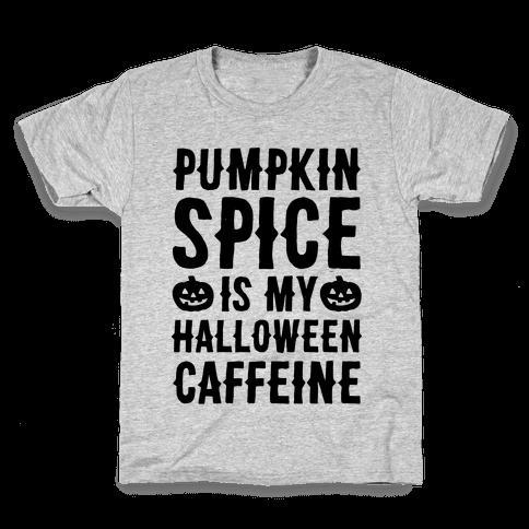 Halloween Caffeine  Kids T-Shirt