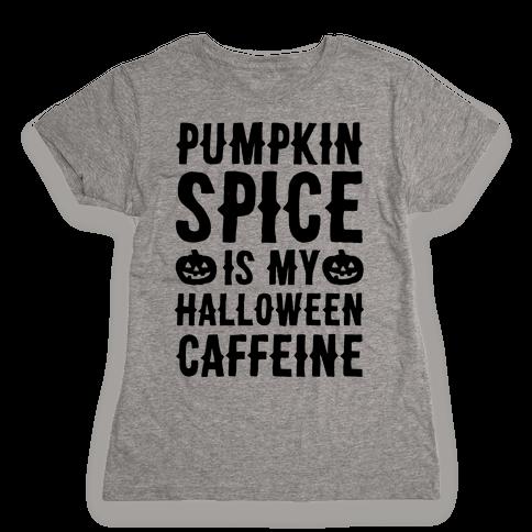 Halloween Caffeine  Womens T-Shirt