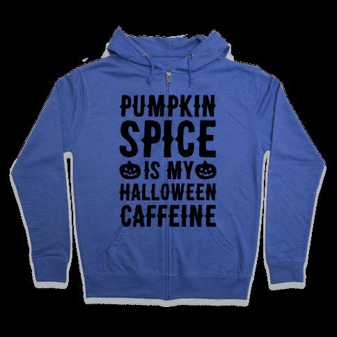 Halloween Caffeine  Zip Hoodie