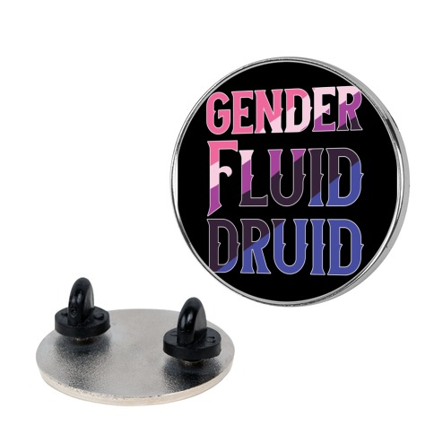 Genderfluid Druid Pin