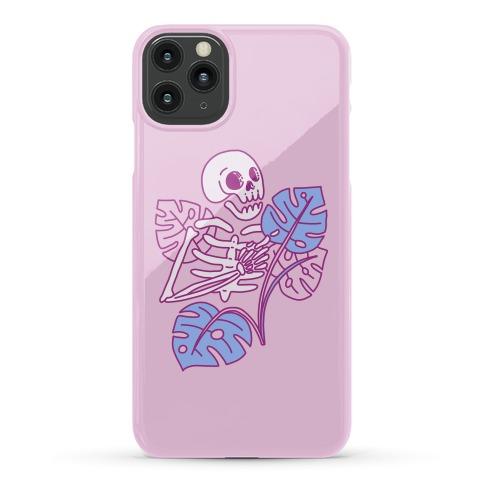 Monstera Skeleton Phone Case