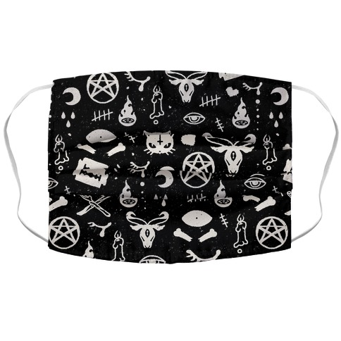 Cute Occult Pattern Pillow Accordion Face Mask