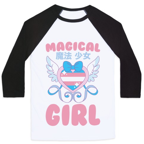 Magical Girl - Trans Pride Baseball Tee