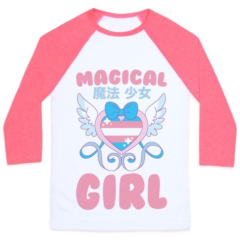 Magical Girl - Trans Pride Baseball Tee