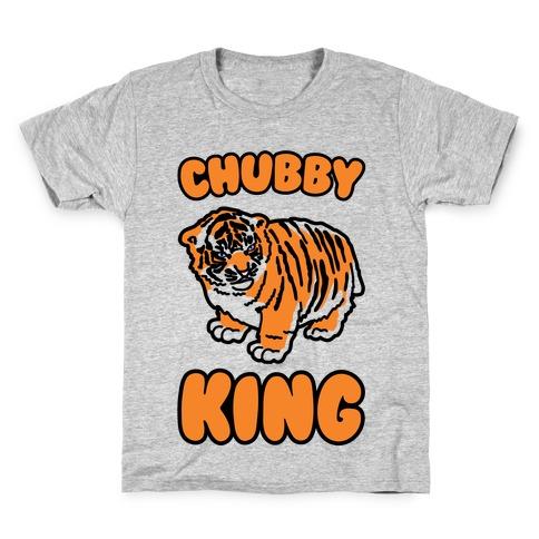 Chubby King Tiger Parody Kids T-Shirt
