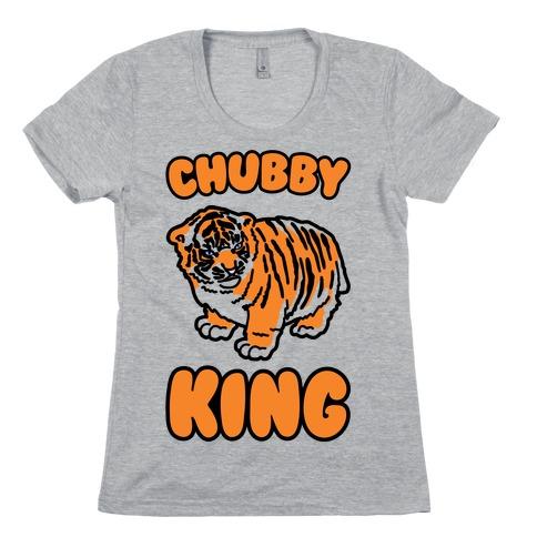 Chubby King Tiger Parody Womens T-Shirt