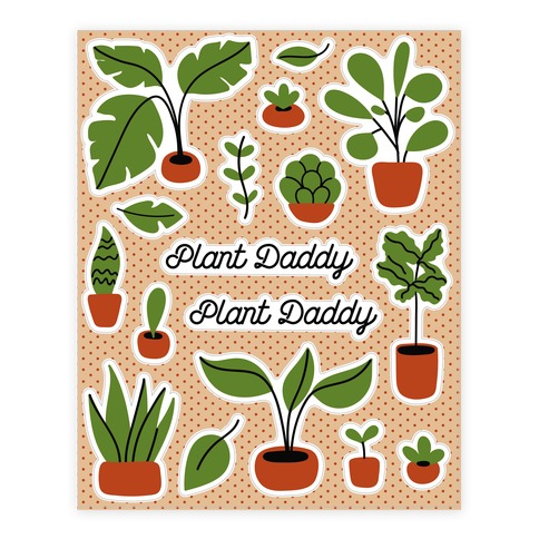 Plant Daddy Sticker and Decal Sheet