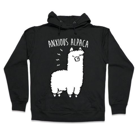 Anxious Alpaca Hooded Sweatshirt