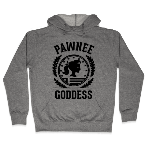 Pawnee Goddess (Black) Hooded Sweatshirt