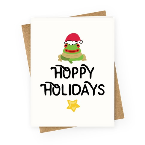 Hoppy Holidays Froggie Greeting Card