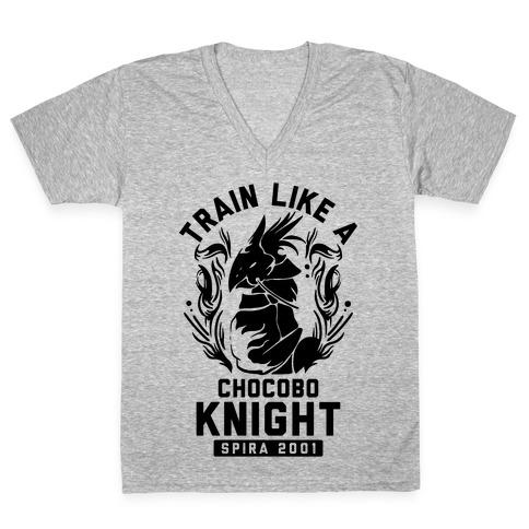 Train like a Chocobo Knight V-Neck Tee Shirt