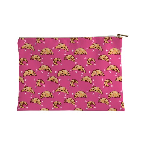 Kawaii Croissant Pattern Accessory Bag