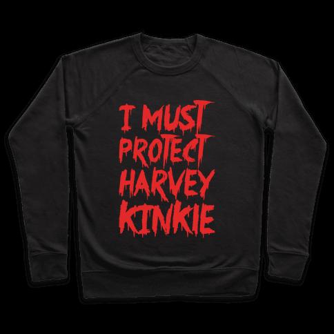I Must Protect Harvey Kinkle Parody White Print Pullover