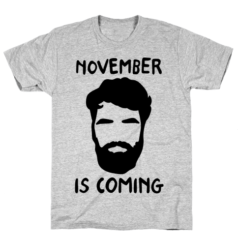 November Is Coming Parody Mens T-Shirt