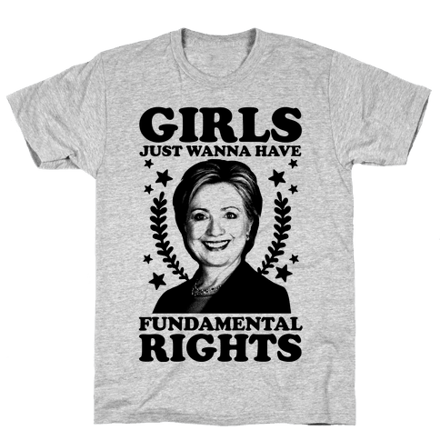 Girls Just Wanna Have Fundamental Rights (HRC) Mens T-Shirt