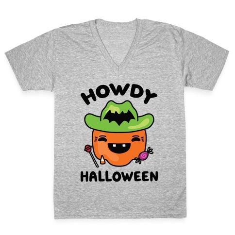 Howdy Halloween V-Neck Tee Shirt