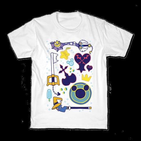 Kingdom Hearts pattern Kids T-Shirt