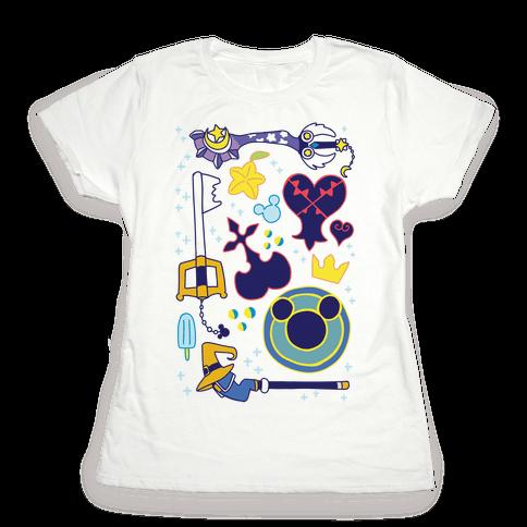 Kingdom Hearts pattern Womens T-Shirt