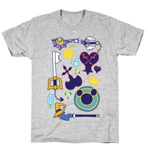Kingdom Hearts pattern T-Shirt