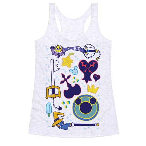Kingdom Hearts pattern Racerback Tank Top