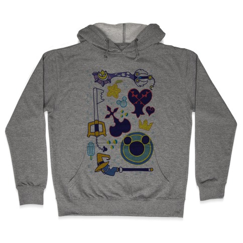 Kingdom Hearts pattern Hooded Sweatshirt