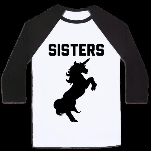 Unicorn Sisters Pair 2 Baseball Tee
