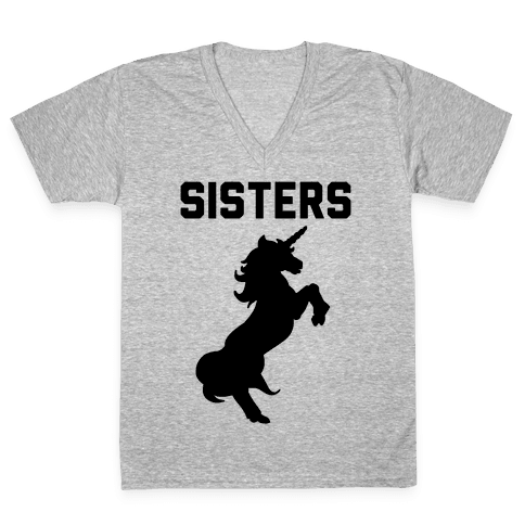 Unicorn Sisters Pair 2 V-Neck Tee Shirt