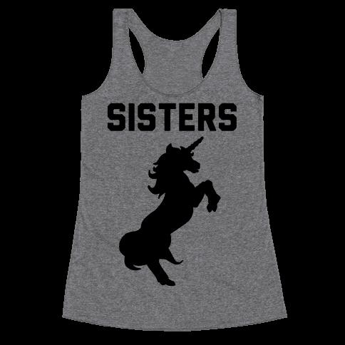 Unicorn Sisters Pair 2 Racerback Tank Top