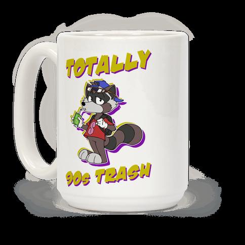 Totally 90's Trash Raccoon Coffee Mug