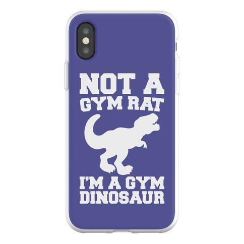Not A Gym Rat I'm A Gym Dinosaur Phone Flexi-Case