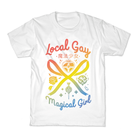 Local Gay Magical Girl Kids T-Shirt