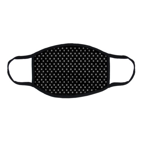 Dainty Squares Pattern Black Flat Face Mask