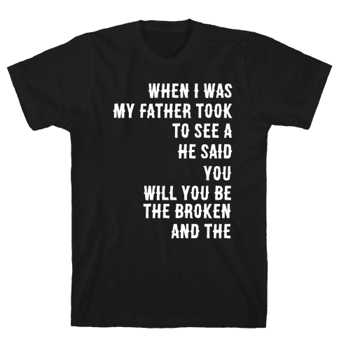 When I Was a Young Boy (1 of 2 pair) Mens/Unisex T-Shirt