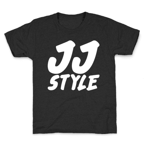 JJ Style White Print  Kids T-Shirt