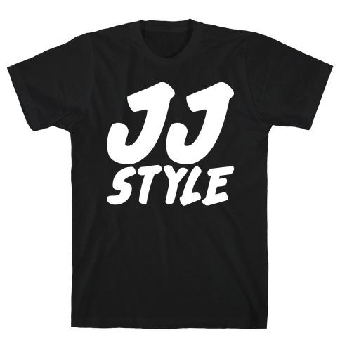 JJ Style White Print T-Shirt