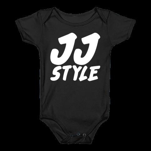 JJ Style White Print  Baby Onesy