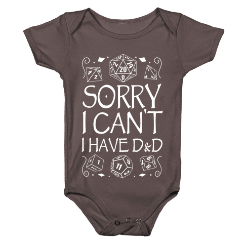 Sorry I Can't, I Have D&D Baby One-Piece