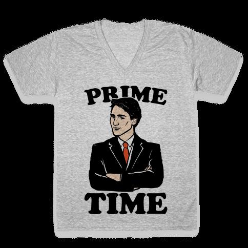 Prime Time  V-Neck Tee Shirt